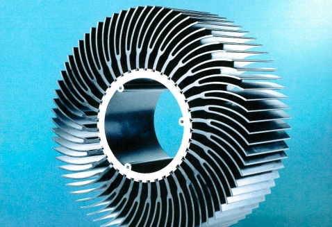An extruded heat sink for LED hazardous industrial lighting from Richard Hinkle and Joe Becknell of Magnode Corporation won the 2014 Professional Award in the Engineered Products category.